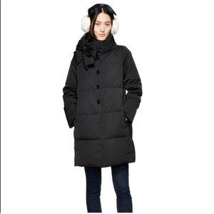 Kate Spade bow puffy coat black